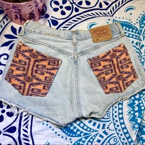 Altered Levi's 501 shorts